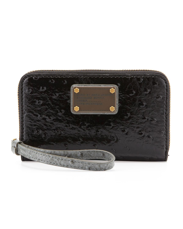Classic Q Wingman Wristlet Zip Wallet, Gray/Black   MARC by Marc Jacobs   Black