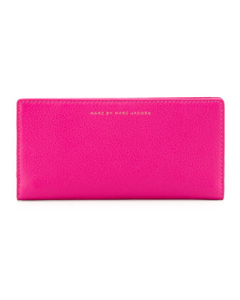 Sophisticated Slim Wallet, Pop Pink