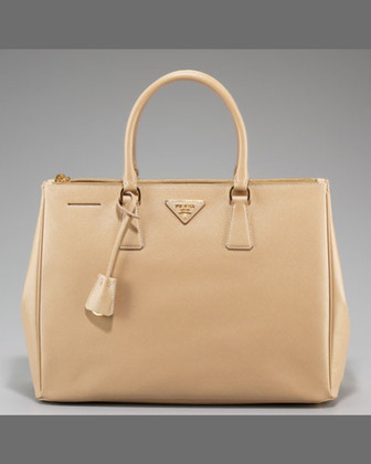 Saffiano Lux Executive Tote Bag, Brown (Palissandro)