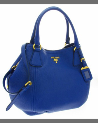 Vitello Daino Tote Bag, Dark Royal (Inchiostro)
