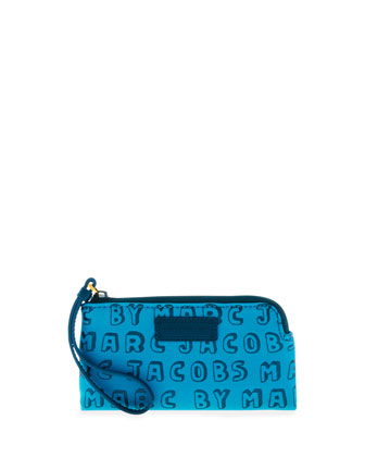 Logo Zip Smart Phone Wristlet Case, Bermuda Multi