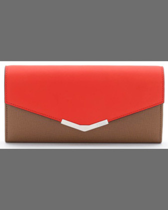 V-Flap Continental Organizer Wallet, Cobalt