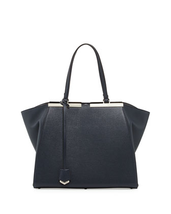 Trois-Jours Medium Winged Tote Bag, Black