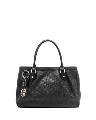 Sukey Guccissima Leather Tote Bag, Black
