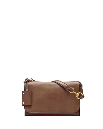 Harness Leather Shoulder Bag, Acero Mushroom