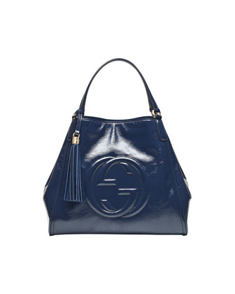 Soho Medium Leather Shoulder Bag, Uniform Blue Navy