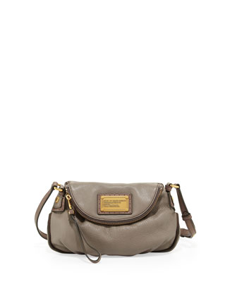 Natasha Mini Tonal Crossbody Bag, Warm Zinc