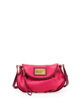 Natasha Mini Tonal Crossbody Bag, Pop Pink