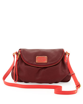 Natasha Medium Two-Tone Crossbody Bag, Red