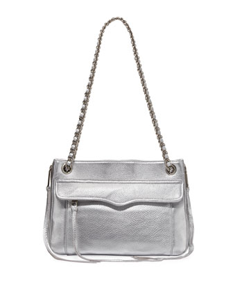 Swing Metallic Shoulder Bag, Silver