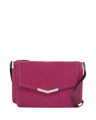 Trilogy Medium Shoulder Bag, Magenta