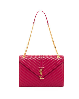 Cassandre Quilted Flap Shoulder Bag, Rouge