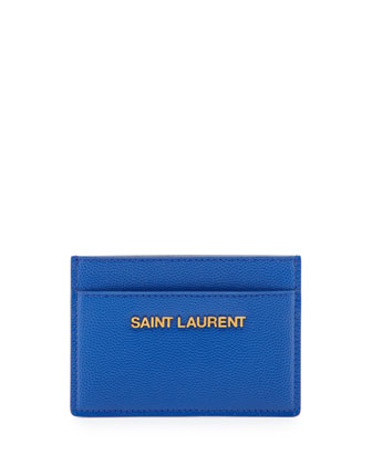 Letters Credit Card Case, Bleu Major