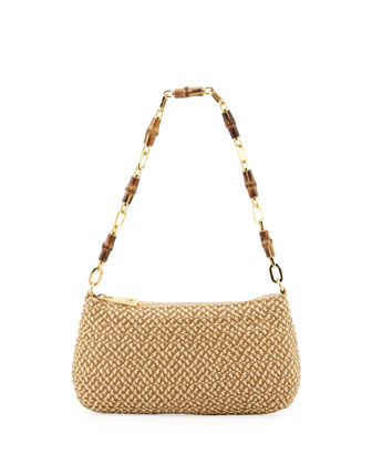 Bulu Bamboo Clutch Bag, Peanut