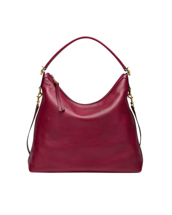 Miss GG Leather Hobo Bag, Raspberry