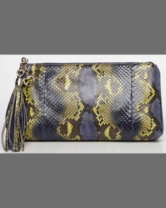 Sienna Python Clutch Bag, Uniform