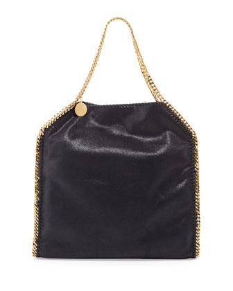 Falabella Large Tote Bag, Navy