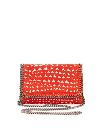 Falabella Crossbody Clutch Bag, Red