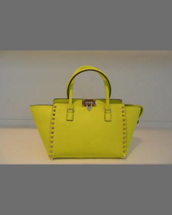 Rockstud Small Shopper Tote Bag, Yellow