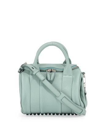 Rockie Small Crossbody Satchel Bag, Peppermint