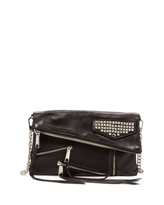 Harper Multi-Zip Crossbody Bag, Black