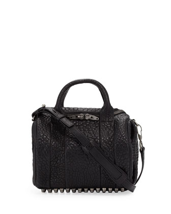 Rockie Small Crossbody Satchel Bag, Black
