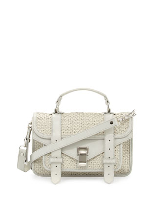 PS1 Tiny Woven Satchel Bag, Off White