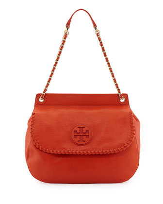 Marion Leather Saddle Bag, Equestrian Orange