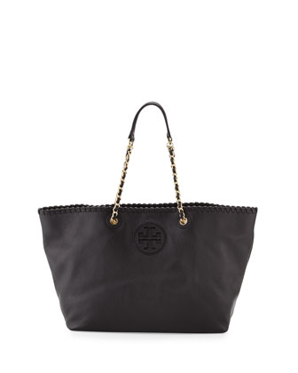 Marion Small East-West Tote Bag, Black