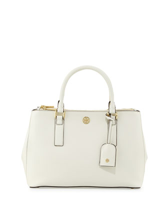 Robinson Mini Double-Zip Tote Bag, Ivory
