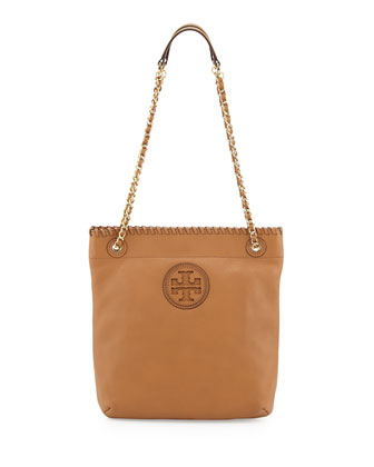 Marion Leather Book Bag, Royal Tan