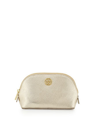 Robinson Saffiano Makeup Bag, Gold