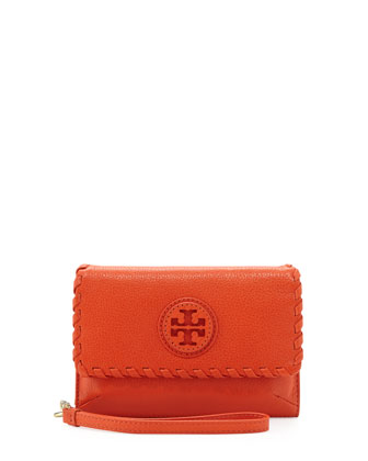 Marion Smart Phone Wristlet, Equestrian Orange