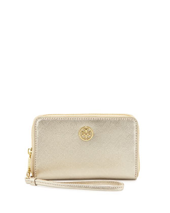 Robinson Smart-Phone Wristlet Wallet, Gold