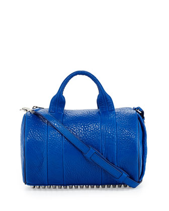 Rocco Stud-Bottom Duffel Bag, Royal Blue