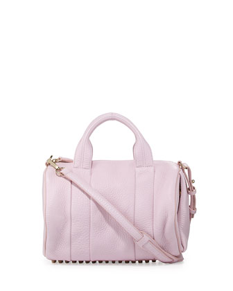 Rocco Stud-Bottom Satchel Bag, Gummy Pink