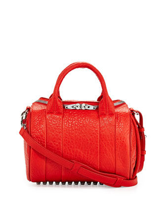 Rockie Small Crossbody Satchel, Cola Red