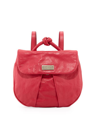 MARChive Leather Backpack, Raspberries