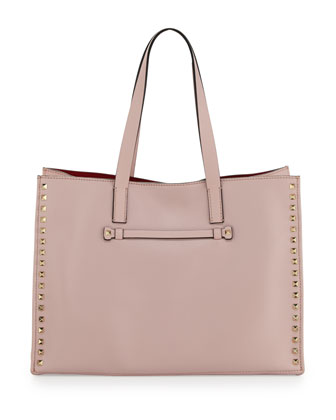 Rockstud Medium Shopping Tote Bag, Rose