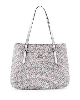 Squishee Jav II Metallic Tote Bag, Gray