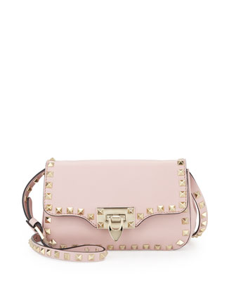 Rockstud Mini Crossbody Bag, Rose