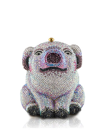Piglet Crystal Minaudiere, Light Rose