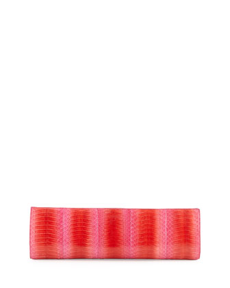 Slim Cobra Snakeskin Clutch Bag, Red Degrade