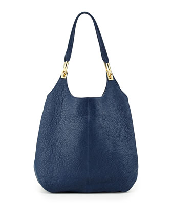 Cynnie Leather Shopper Bag, Yachting Navy