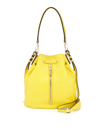 Cynnie Mini Bucket Bag, Peony Yellow