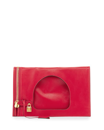 Alix Small Padlock & Zip Shoulder Bag, Pink
