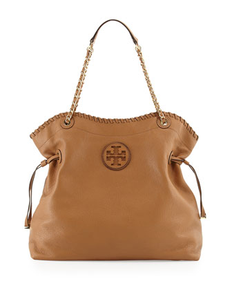 Marion Slouchy Drawstring Tote Bag, Royal Tan