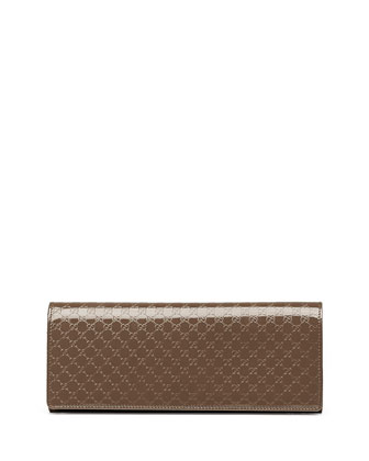 Broadway Guccissima Evening Clutch Bag, Gray