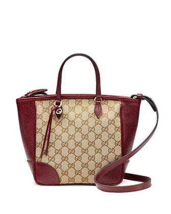 Original GG Canvas Top Handle Bag, Ruby