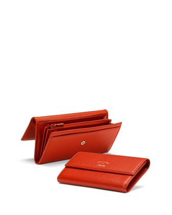 Gucci Swing Leather Continental Wallet, Dark Orange